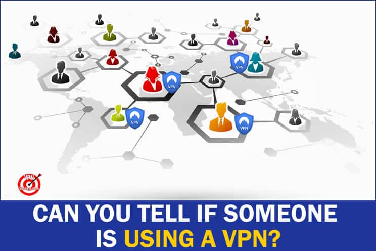 vector diagram of people connected around the world with vpn